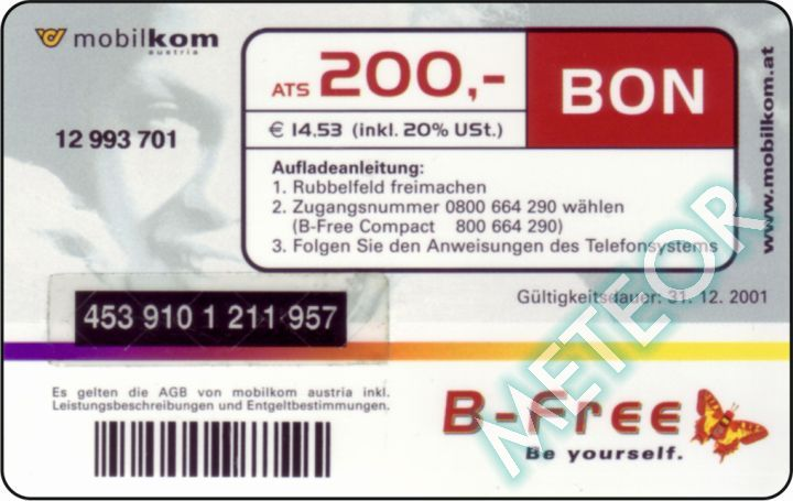 B-free LB 0010 revers