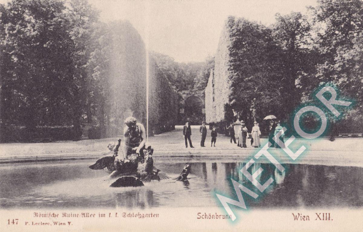 1906 - Wien, Roemische Ruinen-Allee im K.K. Schloßgarten Schoenbrunn - Verlag P. Leclerc, Wien V - Nr. 343