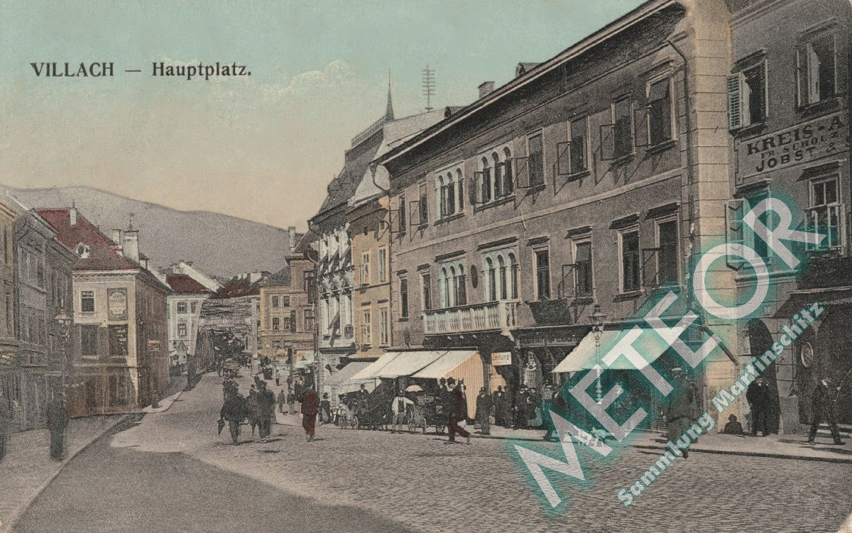 1908 - Hauptplatz Verlagsanstalt Bogensberger Villach