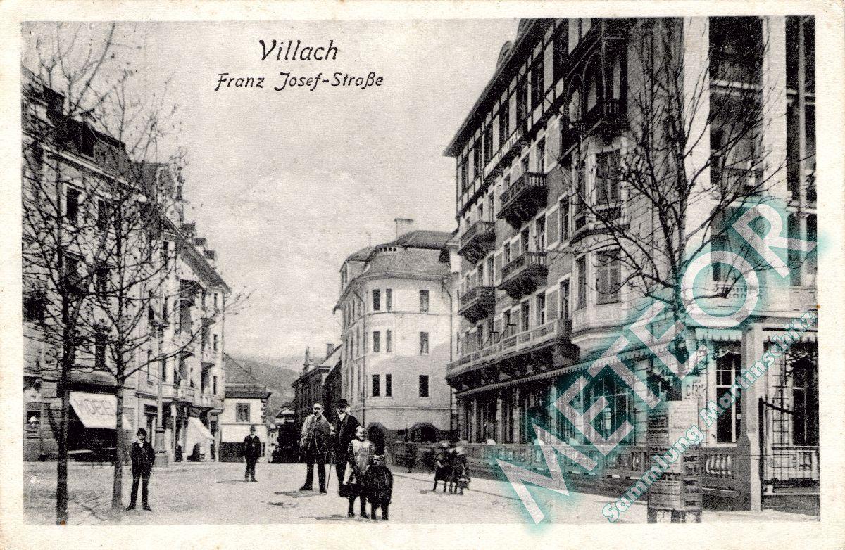 Franz Josef Strasse mit Parkhotel 1922 - Verlag Bogensberger Villach