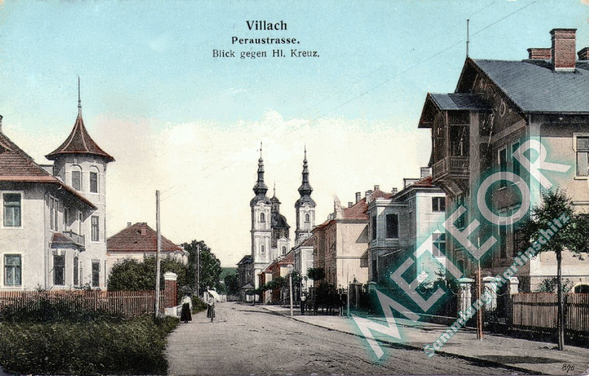 Peraustrasse - 1908 - Verlag Bogensberger Villach