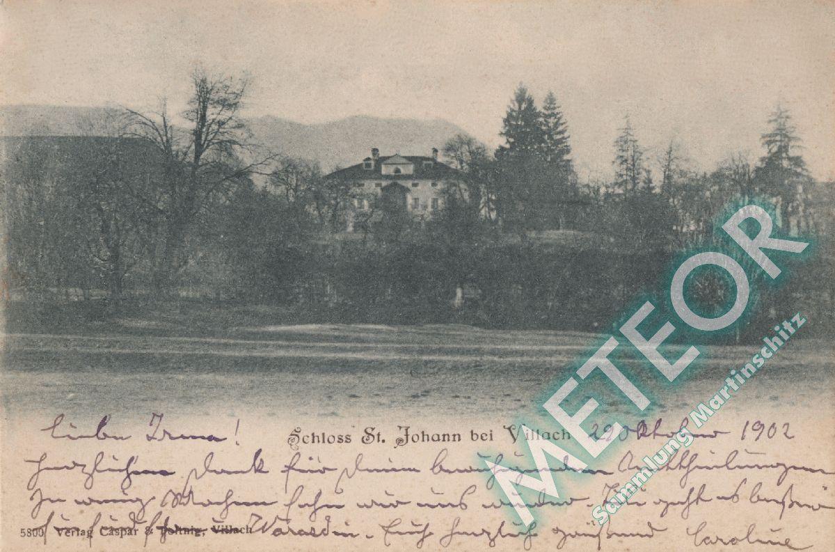 Schloss St. Johann gel. 1902 - Verlag nicht bekannt